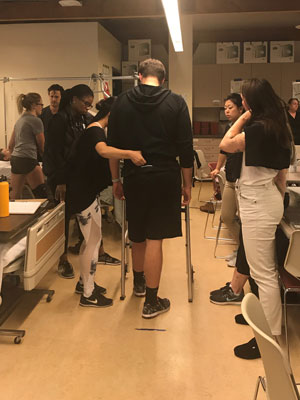 first-year students in the Doctor of Physical Therapy (DPT) program provided wellness assessments and training to Accelerated Bachelor of Science in Nursing students.