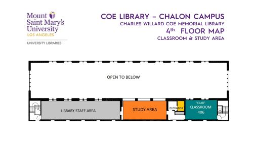 Floor Map of Coe Librar - 4th floor (pdf available)