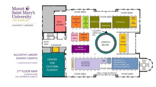 Floor map of McCarthy Library - 2nd Floor (pdf available)