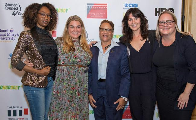 Nicole Haggard, PhD (second from left), an assistant professor of film, media & communications at MSMU, was part of Take The Lead's cohort,