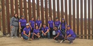 MSMU students and staff at the U.S.-Mexico border on an alternative spring break service trip.