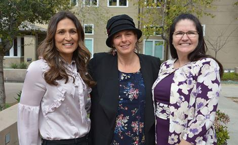 Mona Saint, MD, MPH, of the Chopra Center and UC San Diego School of Medicine; Julie Feldman-Abe, PhD, director of the Center for Cultural Fluency and of the Department of Elementary Education at Mount Saint Mary's University; and Lorry Leigh Belhumeur '80, PhD, CEO of Western Youth Services. At the Mount's 2018 'Health, Wellness & Social Justice' Critical Teaching in Action conference.