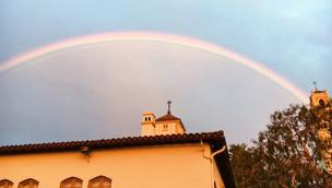 Exchange student Beibei Qin, from China's Nanjing University, saw this rainbow on her last day at the Chalon Campus in fall 2016.