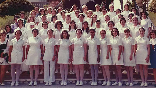 Nursing students posed for a photograph