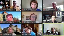 A portion of the WCC representatives who participated in a recent WCC meeting. Mount Saint Mary's President, Ann McElaney-Johnson, is in the bottom right corner of this screenshot.