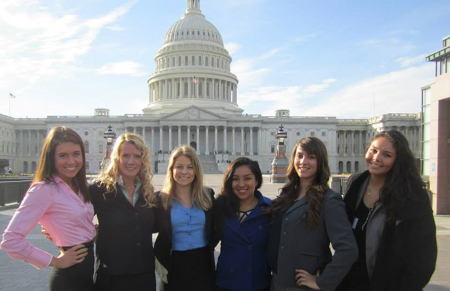 Mount students at PLEN's Women, Law, and Public Policy Advocacy seminar in November 2009.