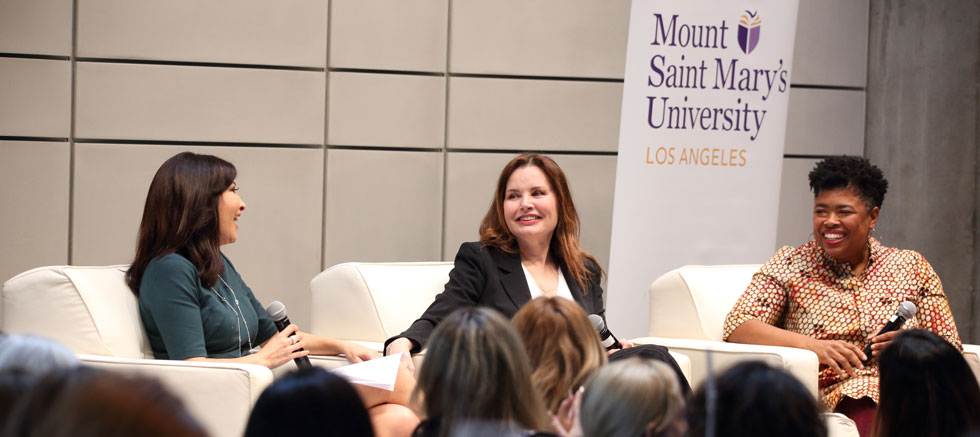 Emmy Award-winning journalist Kim Baldonado, featuring Academy Award-winning actor Geena Davis and writer-producer Erika Green Swafford.