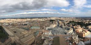 A view of Rome during a Campus Ministry pilgrimage over spring break. Photo by Sarah Tuttle, communications coordinator for Campus Ministry.