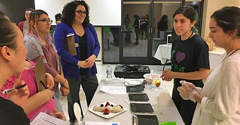 Students share their culinary creationg during the