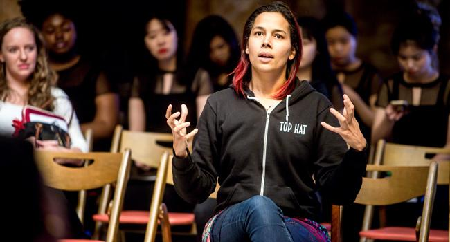 Rhiannon Giddens leads a masterclass with emerging musicians during MSMU's Women in Music Festival.