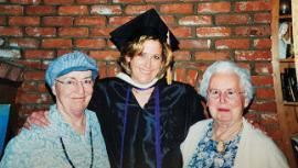 From left: Phyllis (Lieb) Ambrose '61 with her daughter Janis Ambrose-Shard '02 and her late mother Bernice (Carls) Lieb '37.