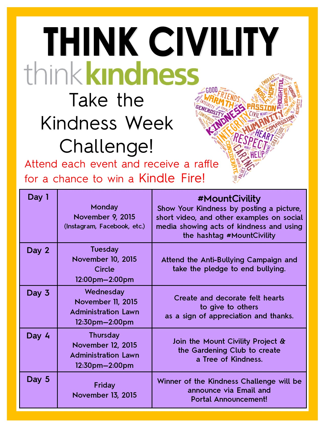 Kindness Week Challange