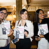 Attendees at the President's Networking Reception and book signing