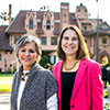 Senator Barbara Boxer and President Ann McElaney-Johnson