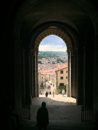A view from the Cathedrale Notre-Dame in Le Puy, France -- home to the roots of the University's founders, the Sisters of St. Joseph of Carondelet.