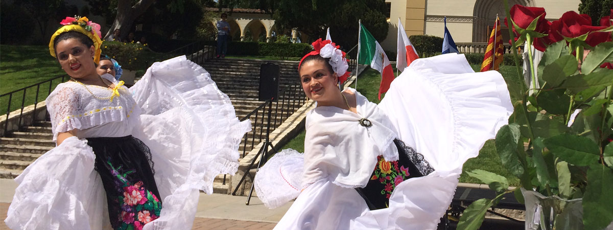 Dancers performing at the International Festival